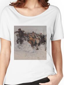 Vasily Surikov - Taking a Snow Town  Women's Relaxed Fit T-Shirt