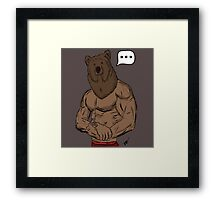 Bear Mode Framed Print
