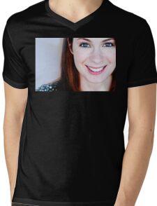Felicia Day Mens V-Neck T-Shirt