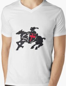 Horse And Knight Mens V-Neck T-Shirt