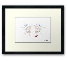 Little Bride and Bride Framed Print