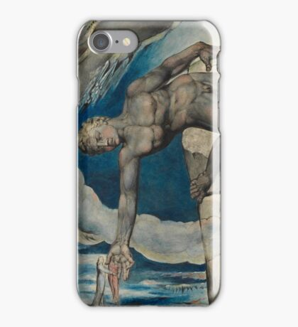 William Blake - Antaeus setting down Dante and Virgil in the Last Circle of Hell iPhone Case/Skin