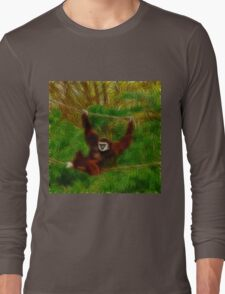 Gibbon In The Jungle Long Sleeve T-Shirt
