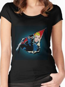 Diabolik and Eva Kant in the cut Women's Fitted Scoop T-Shirt