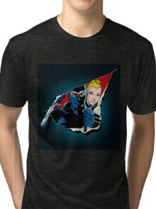 Diabolik and Eva Kant in the cut Tri-blend T-Shirt