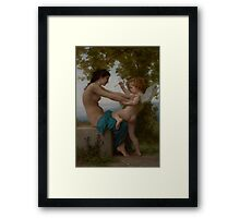 William Bouguereau  - A Young Girl Defending Herself against Eros about 1880 Framed Print