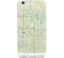 Salt Lake City Map Blue Vintage iPhone Case/Skin