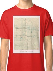 Salt Lake City Map Blue Vintage Classic T-Shirt