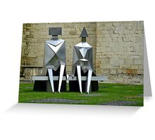 Mathematical figures on a pew Greeting Card