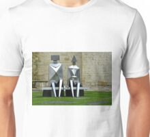 Mathematical figures on a pew Unisex T-Shirt