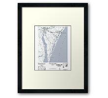 Art Print Historical 1948 Map of Wilmington NC Framed Print