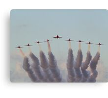 RAF Red Arrows head-on Canvas Print