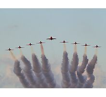 RAF Red Arrows head-on Photographic Print