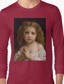 William Bouguereau  - Little Girl  Long Sleeve T-Shirt