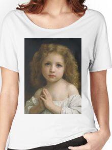 William Bouguereau  - Little Girl  Women's Relaxed Fit T-Shirt