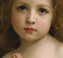 William Bouguereau  - Little Girl  Sticker