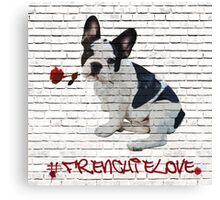 French bulldog 'Frenchie' Canvas Print