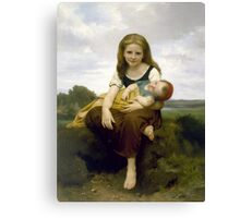 William Bouguereau  - The Elder Sister Canvas Print