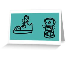 Skaters trainers Greeting Card