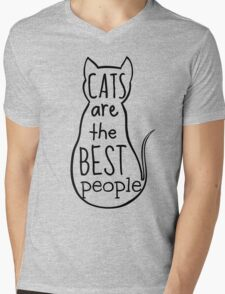 cats are the best people Mens V-Neck T-Shirt