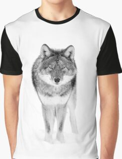 Coyote in Black and White Graphic T-Shirt