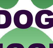 Green Animal Paw Official Dog Hugger Sticker