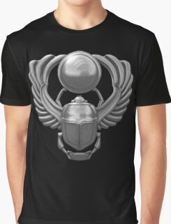 Silver Egyptian Scarab Graphic T-Shirt