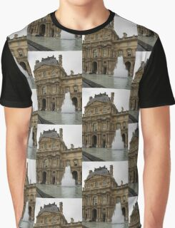 Of Pale Pastels and Palaces - the Louvre Courtyard in Paris Graphic T-Shirt