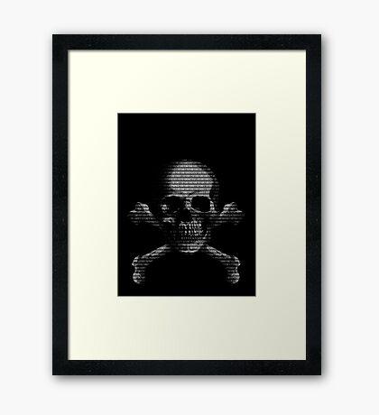 Hacker Skull Framed Print