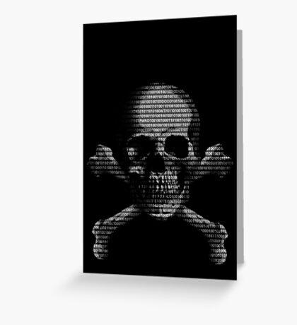 Hacker Skull Greeting Card