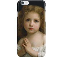William Bouguereau  - Little Girl  iPhone Case/Skin