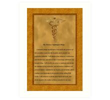 Nursing Pledge  Art Print
