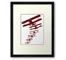 Retro Biplane Graphic Framed Print