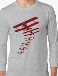 Retro Biplane Graphic Long Sleeve T-Shirt