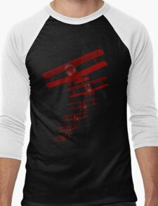 Retro Biplane Graphic Men's Baseball ¾ T-Shirt