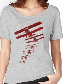 Retro Biplane Graphic Women's Relaxed Fit T-Shirt