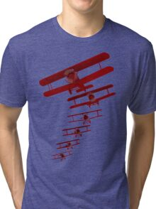 Retro Biplane Graphic Tri-blend T-Shirt