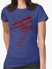 Retro Biplane Graphic Womens Fitted T-Shirt
