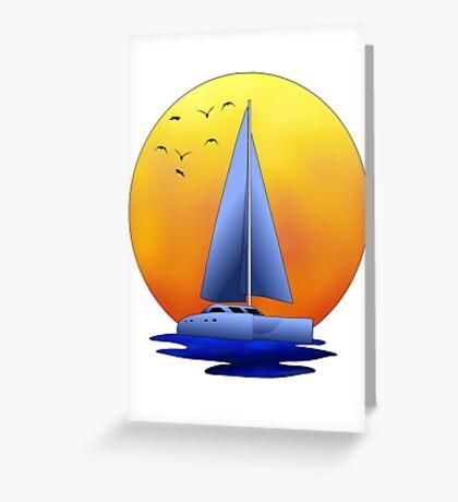 Catamaran Sailboat Greeting Card
