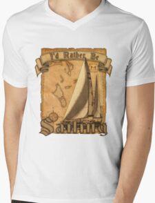 I'd Rather Be Sailing Mens V-Neck T-Shirt