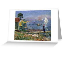 William Glackens - Bathers at Bellport  Greeting Card