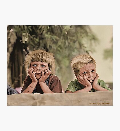 Oklahoma Refugee Children 1936 Photographic Print