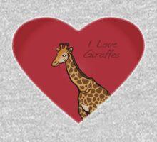 LOVE: Giraffes One Piece - Short Sleeve