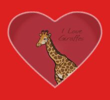 LOVE: Giraffes One Piece - Short Sleeve