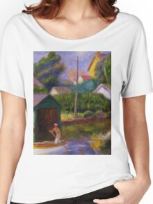 William Glackens - Washington Square  Women's Relaxed Fit T-Shirt