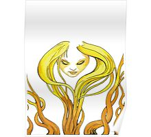 The yellow grassland Fairy Poster