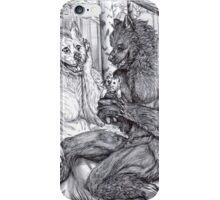 Werewolf courtship iPhone Case/Skin