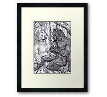 Werewolf courtship Framed Print