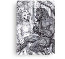 Werewolf courtship Canvas Print