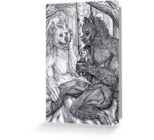 Werewolf courtship Greeting Card